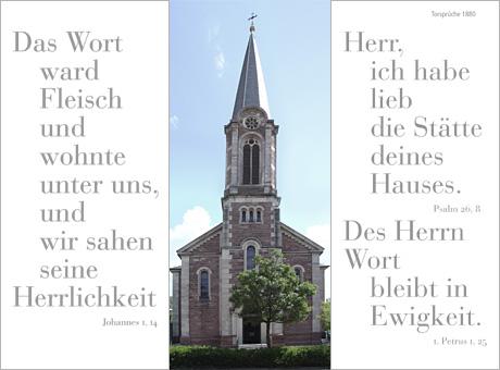 Die neoklassizistische Johanneskirche, links und rechts die Sakristeifenster.